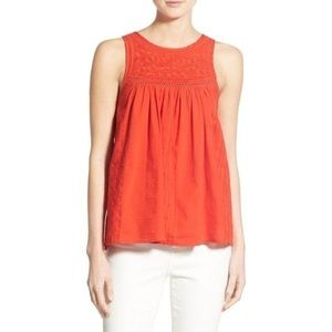 Madewell Embroidered Swing Sleeveless Top Size 00